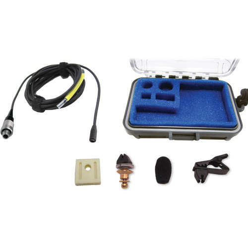 Voice Technologies VT403 Vocal Omnidirectional Lavalier Microphone with Lemo 3-Pin Jack (Black)