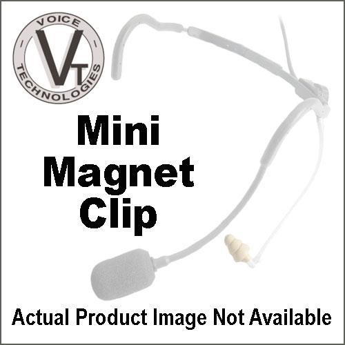 Voice Technologies VT0270 MMC Mini Magnet Clip Holder for VT401 and VT400 Lavalier Microphones (Black)
