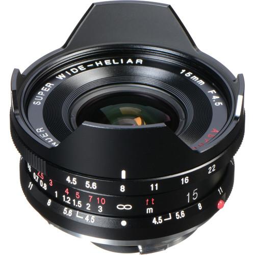 Voigtlander Super Wide-Heliar Aspherical II 15mm f/4.5 Lens for Leica M Cameras
