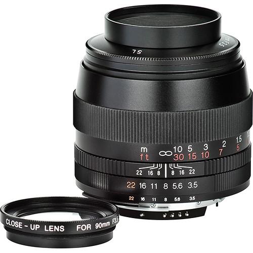 Voigtlander 90mm F/3.5 SL II APO-Lanthar Lens for Nikon (Black)