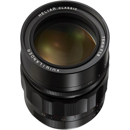 Voigtlander Heliar 75mm f/1.8 Lens (Black)