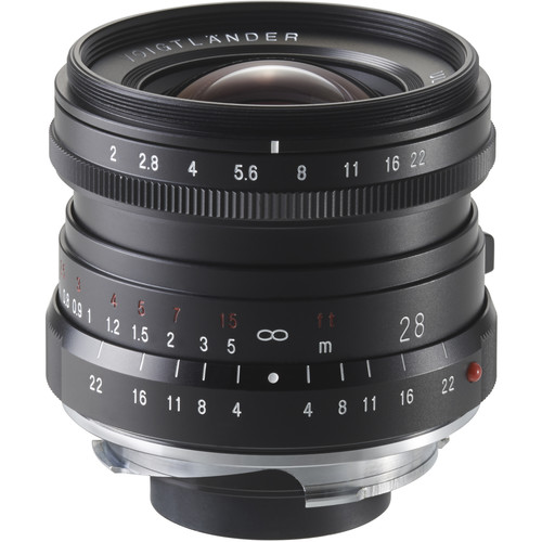 Voigtlander Ultron 28mm f/2.0 Manual Focus M Mount Lens - Black