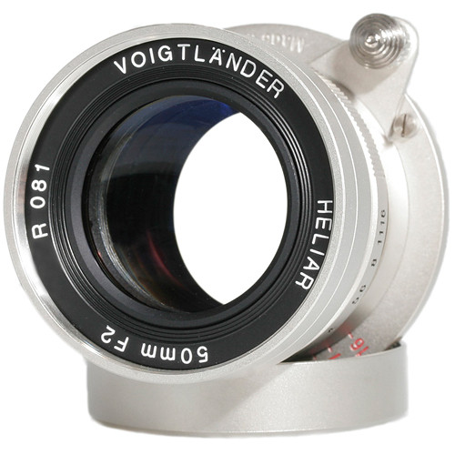 Voigtlander Heliar 50mm f/2.0 Lens (M39 Mount, Nickel-Plated)