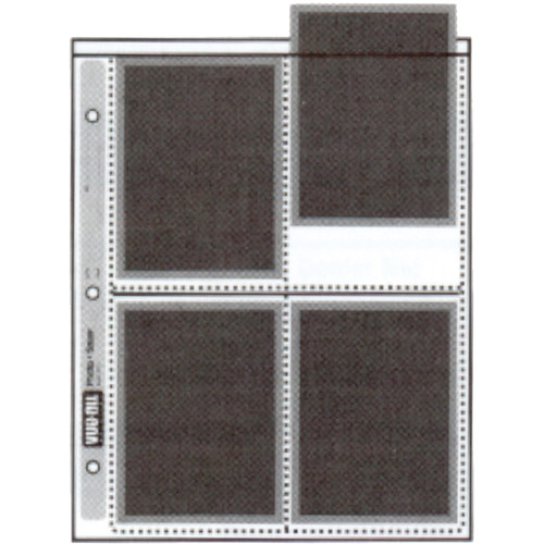 "Vue-All Photo Saver Archival Storage Page, 4x5"", Holds 8 Prints - 25 Pack"