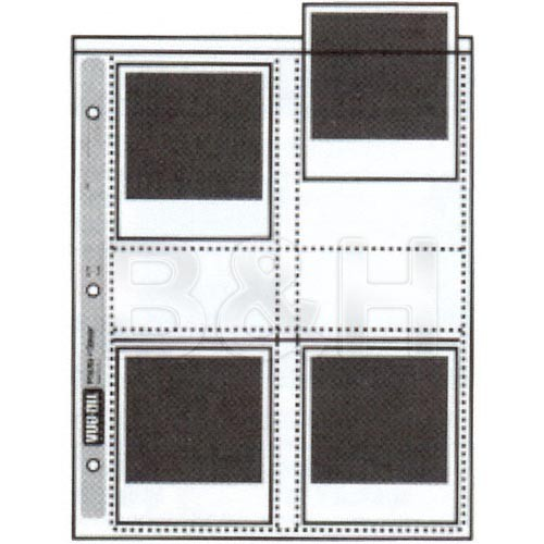 """Vue-All Photo Saver Archival Storage Page, 4x4.5"""", Holds 8 Prints - 25 Pack"""