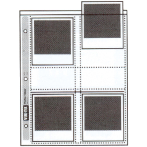 "Vue-All Photo Saver Archival Storage Page, 4x4.5"", Holds 8 Prints - 100 Pack"