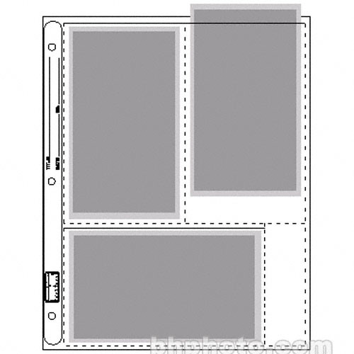 """Vue-All Photo Saver Archival Storage Page, 4x7"""" APS, Holds 6 Prints - 25 Pack"""