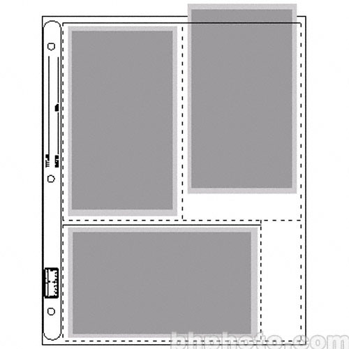 """Vue-All Photo Saver Archival Storage Page, 4x7"""" APS, Holds 6 Prints - 100 Pack"""