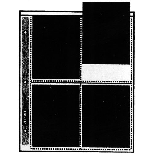 "Vue-All Negative Saver Archival Storage Page, 4x5"" - 100 Pack"