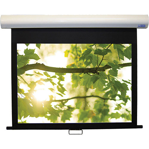 """Vutec 01-HD3072-128MW HD III Deluxe Manual Front Projection Screen (72 x 128"""")"""