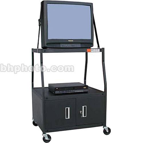 "Vutec 48"" Wide TV Cart w/Lock Cabinet/Elec"