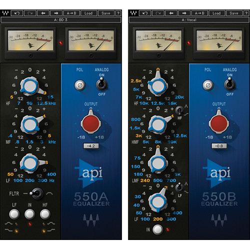 Waves API 550A/B - Classic Equalizers Plug-In (Native)