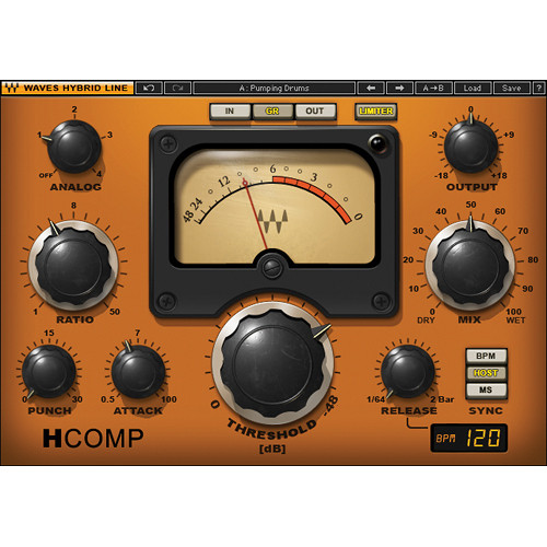 Waves H-Comp - Hybrid Compressor Plug-In (Native)