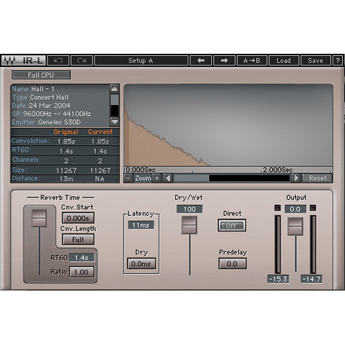 Waves IR-L - Convolution Reverb Plug-In (Native)