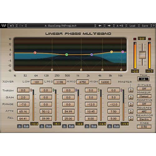 Waves Linear Phase Multiband - Multiband Compression Plug-In (TDM)