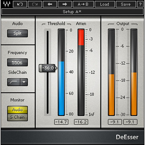 Waves DeEsser - Sibilance Removal Plug-In (TDM)