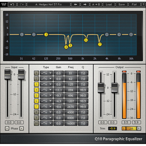 Waves Q10 - Paragraphic EQ Plug-In (TDM)