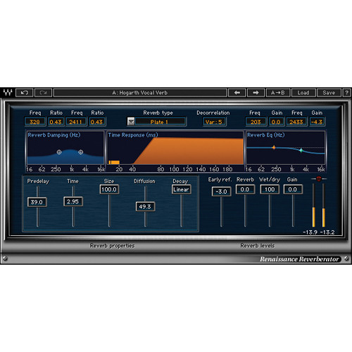 Waves Renaissance Reverb - Classic Reverb Plug-In (TDM)