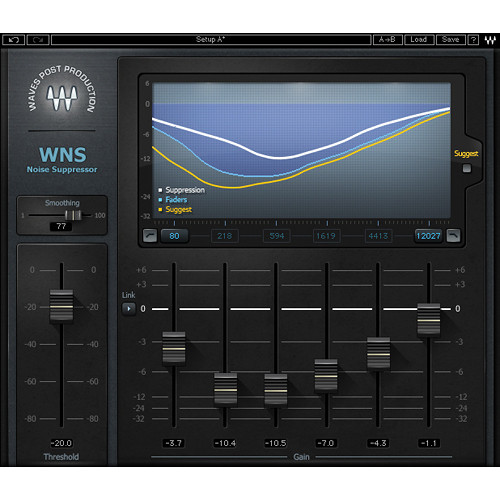 Waves WNS Noise Suppressor - Audio Post Processor Plug-In (TDM)