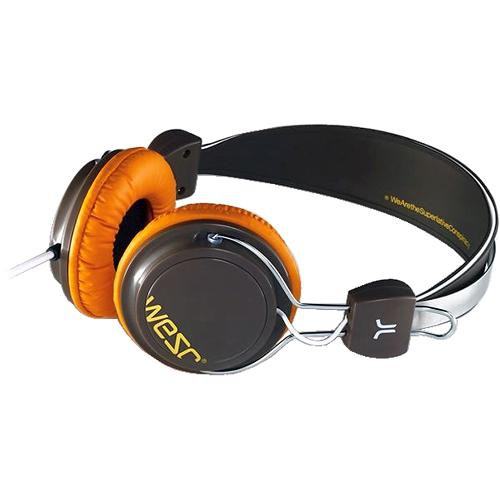 WeSC Bongo On-Ear Stereo Headphones (Chocolate Brown)