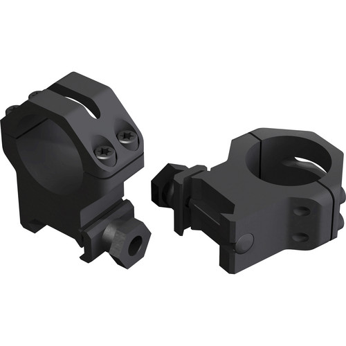 "Weaver 4-hole Skeleton 1"" Riflescope Rings (High, Matte Black)"
