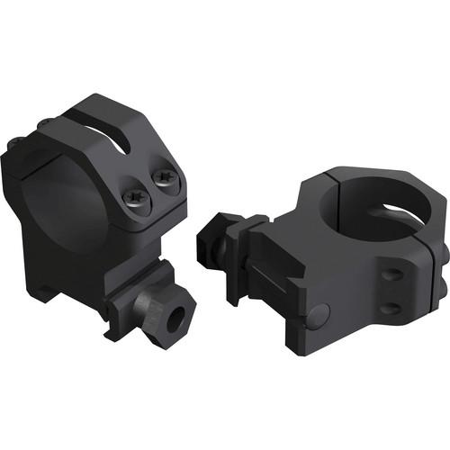 Weaver 4-hole Skeleton 30mm Riflescope Rings (Medium, Matte Black)