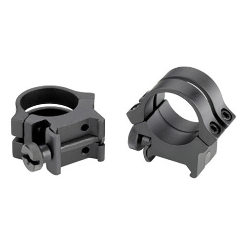 "Weaver Quad-Lock 1"" High Riflescope Rings (Silver)"