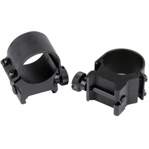 Weaver Detachable Top Mount Rings (30mm, Low, Gloss Black)