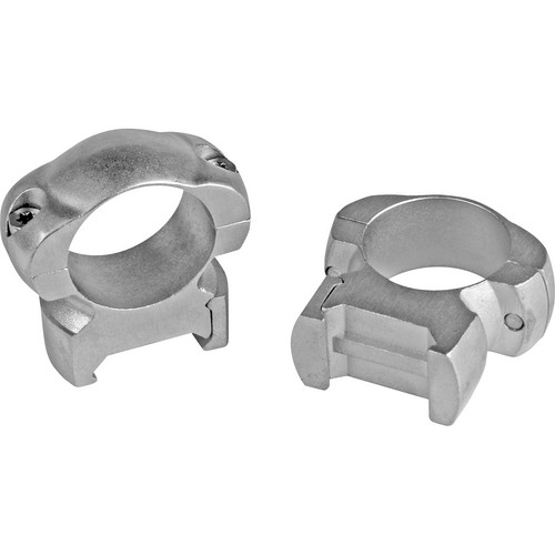 "Weaver Grand Slam Top Mount Steel 1"" Medium Riflescope Rings (Silver)"