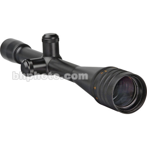 Weaver 24x40 T-24 Target/Varmint Waterproof & Fogproof Riflescope (0.8-Degree Angle of View) with an Adjustable Objective and 1/8 MOA Dot Reticle - Satin Black