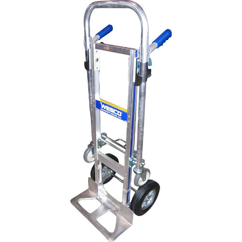 Wesco Cobra Jr. Hand Truck - Poly Offset Hub, Solid Rubber Wheels & T18 Nose