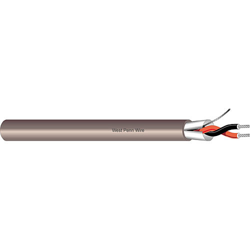 West Penn Standard 2-Conductor Shielded Cable (18-Gauge) - 1000'