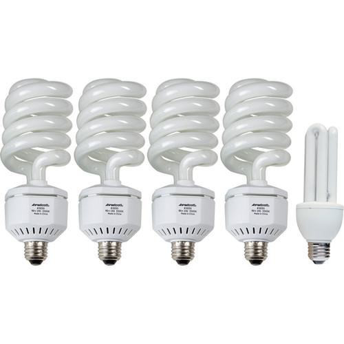 Westcott Fluorescent Lamp Five Pack - 4x50, 1x20 Watts/120 Volts