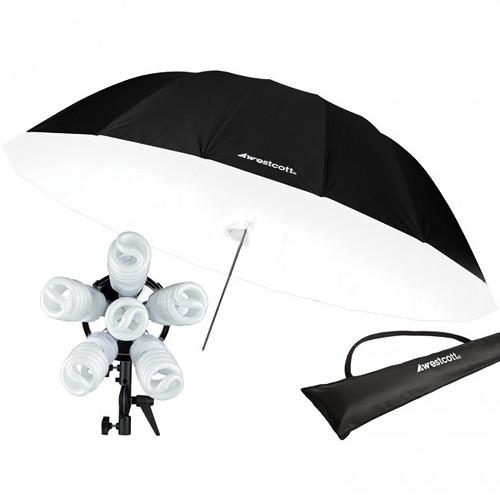 Westcott 1200W Spiderlite TD6 7' Parabolic Umbrella Kit