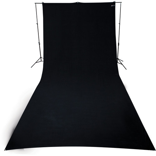 Westcott 9 x 20' Wrinkle-Resistant Cotton Backdrop (Rich Black)