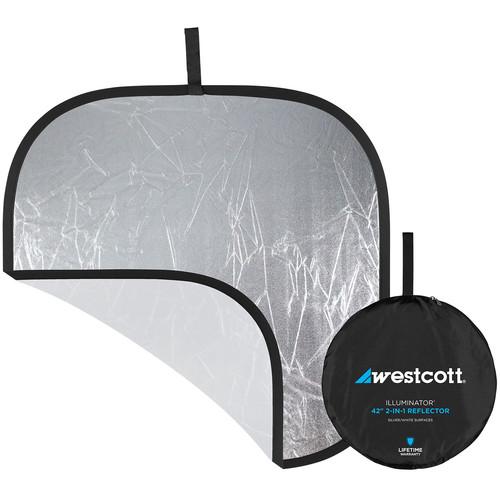 "Westcott Illuminator Collapsible Reflector - 42"" Square - Silver/White"