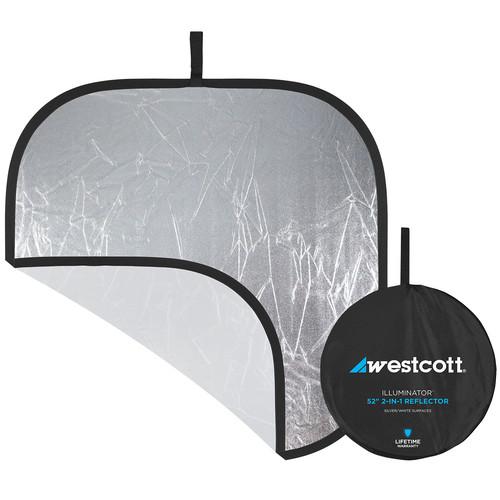 "Westcott Illuminator Collapsible Reflector - 52"" Square - Silver/White"