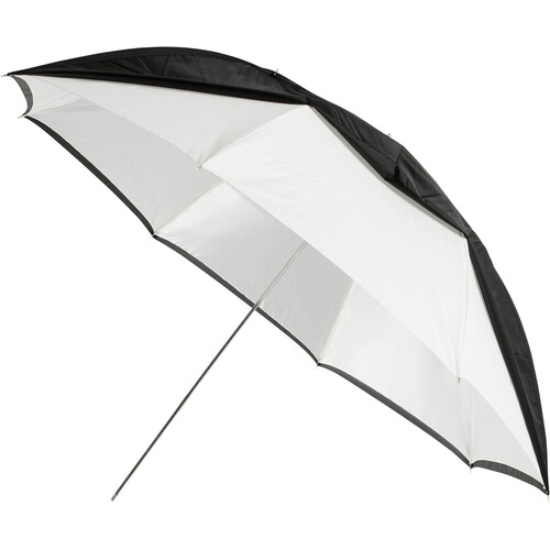 "Westcott 60"" White Satin Umbrella with Removable Black Cover"