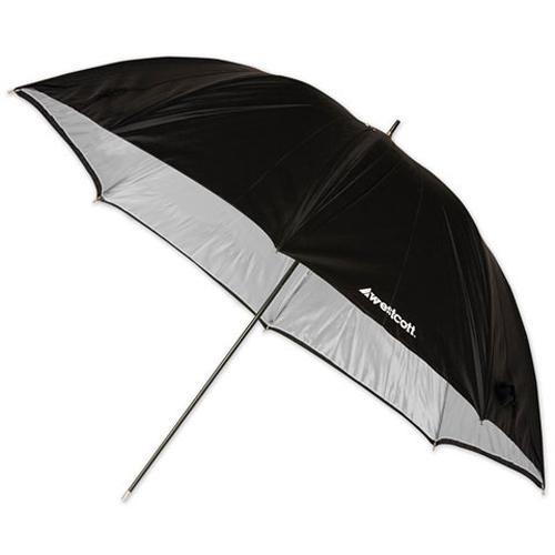 "Westcott Umbrella - Silver with Black Backing - 45"""