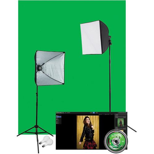 Westcott Illusions uLite 2-Light Green Screen Photo Lighting Kit (120VAC)