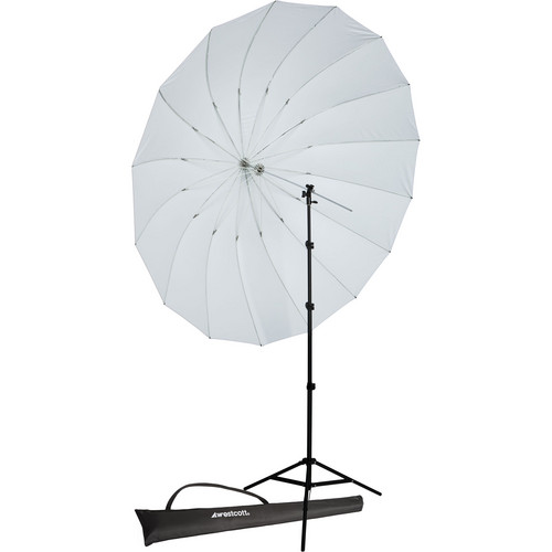 Westcott 7' Parabolic Umbrella (White) with 8' Stand
