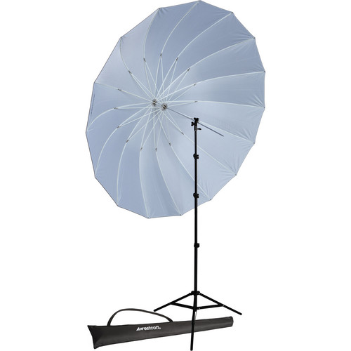 Westcott 7' Parabolic Umbrella (Black/White) with 8' Stand Promo Kit