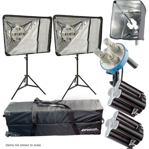 Westcott Monte Zucker Deluxe 4 Light Fluorescent Kit (220V)