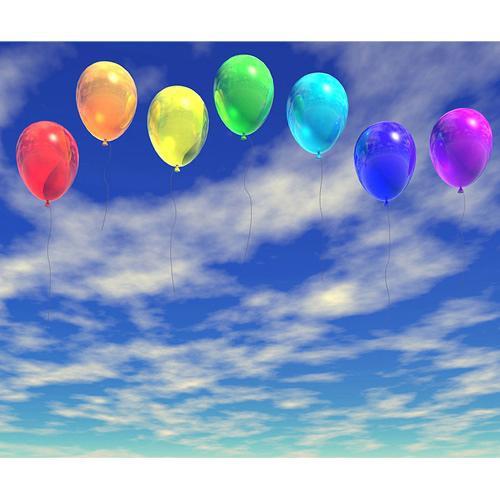 Westcott Scenic Background (5x6', Dancing Balloons)
