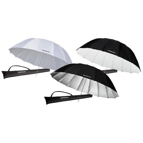 Westcott 7.0' Parabolic Umbrella Holiday Bundle