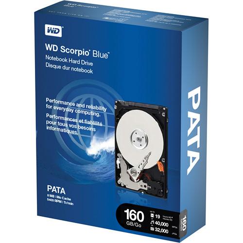"""WD 160GB 2.5"""" Scorpio  IDE Hard Drive"""