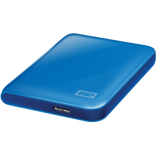 WD My Passport Essential 500GB Portable Hard Drive (Blue)