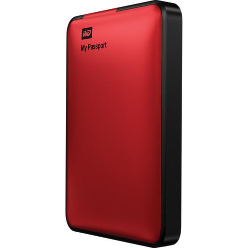 WD 1TB My Passport USB 3.0 Portable Hard Drive (Red)