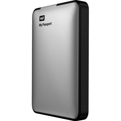 WD 1TB My Passport USB 3.0 Portable Hard Drive (Silver)