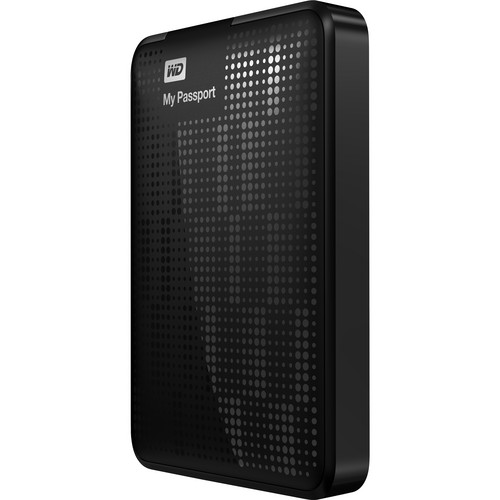 WD 500GB My Passport USB 3.0 Portable Hard Drive (Black)